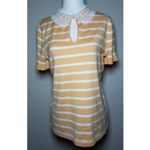 NWT|Karl Lagerfeld Striped Blouse